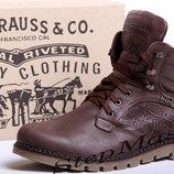 Пешеходные ботинки LEVI S Б25-04 коричневые
