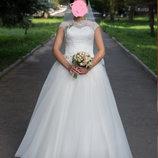 Шикарное платье цвета айвори XS-S-M