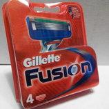 Картридж Gillette Fusion лезвия 4 шт