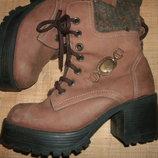 40р- 26 нубук стильные ботинки в греческом стиле