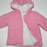 Брендовая детская утепленная курточка Mothercare с капюшоном.