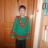 Карнавальный новогодний костюм Индеец на возраст 5-8 лет Прокат