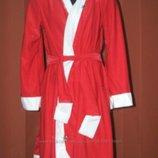 Карнавальный новогодний костюм Дед Мороз Новый год Санта на возраст 5-8 лет и 1 годик прокат
