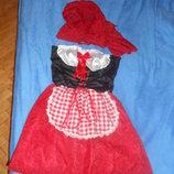 Карнавальный новогодний костюм Красная шапочка для взрослого Прокат