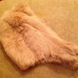 Шапочка шлем кролик, бежевый цвет 56-58