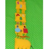 Игрушка с застежками Жираф .Ручная работа.