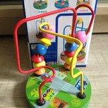 Деревянная игрушка Лабиринт на проволоке, 4 вида, в кульке