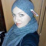 Длинный 2,5 м шерстяной шарф и повязка шикарный набор C&A Германия