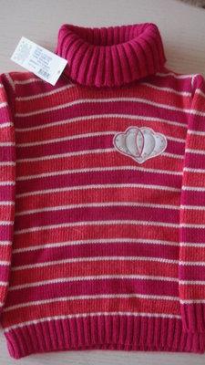 Стильный шерстяной свитер гольф для девочки в наличии от 116 до 134