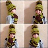 Шапка шарф набор комплект теплый красивый Под Заказ