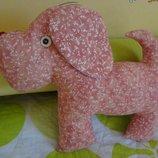 Hand Made Игрушка-подушка Розовая Собачка Люся