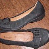 Рр7-26,1 см стильные удобные туфли балетки Gabor кожа
