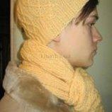 Шапка и шарф новые мужские комплект