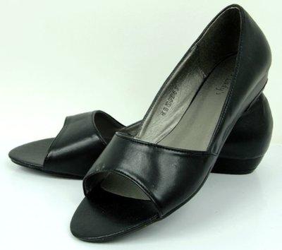 Летние классические туфельки BLACK r.36 с открытими пальчиками