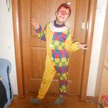 Костюм карнавальный новогодний Клоун Петрушка на возраст 6-8 лет Прокат Продажа