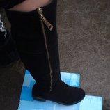 Продам сапоги женские ЗИМА БОТФОРТЫ чёрные в наличии