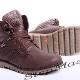 Зимние ботинки LEVI S Б25-04 коричневые