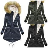 Зимняя женская куртка парка 2 в 1