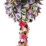 Топиарий. Денежное дерево счастья. Подарок мужчине и женщине.