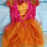 Маскарадное платье тыковки на 12-18мес на Хэллоуин. Продажа.