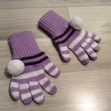 Перчатки для принцессы 3-4 года
