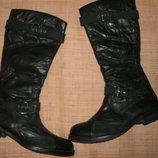 40р-27 см кожа новые сапоги Tamaris DuoTEX 27