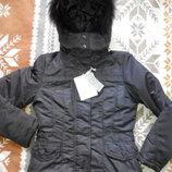 Куртка от honey winter с натуральным мехом размер С