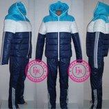 Зимний утеплённый костюм синий S 42