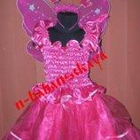 Карнавальный новогодний костюм Бабочка Фея на возраст 4-10 лет