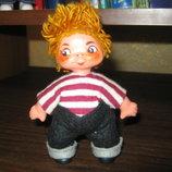 кукла кривоножка, резина 12 см. ГДР