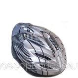 Подростковый защитный шлем серый