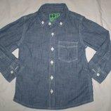 рубашка джинсовая тонкая NEXT 1.5- 2 г, на 92 см,