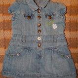 Джинсовое платье Fagottino на девочку до 1 годика. Размер S.