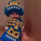 стильный комплект шапочка и шарфик