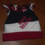 Очень теплая шапка на двойном флисе на 2-4года