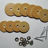 Мишка. Тильда. Комплект дисков и шплинтов для шарниров.