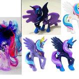 My Little Pony - Принцесса Луна Princess Luna - 4 вида, Селестия, Каденс