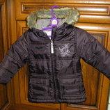Яркая куртка на малышку 80-92 см