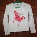 футболка с длинными рукавами на девочку 11лет, новая размер 146