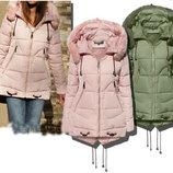 Зимняя женская куртка парка пуховик