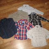 Рубашки с длинным рукавом на 3-4 года