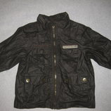9-12 мес, демисезонная куртка ветровка непромокайтка, Кармашки