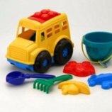 Песочный набор машинка - автобус Бусик 3 набор для песочницы машина,лопатки,паски
