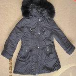 Куртка-Пальто на девочку, р. 140-150