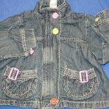 Джинсовая стильная курточка-пиджачок фирменная на ребенка 3/4лет в отличном состоянии