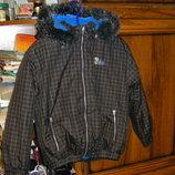 Теплая куртка на флисе, защитного цвета Timber Creek 116-128 недорого, серая на флисе 122