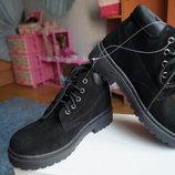 Ботинки демисезонные для девочки и мальчика, замша, новые р, 35
