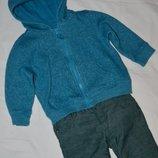 18 - 23 месяцев Обалденно фирменная Кофточка реглан батник кенгурушка для девочки или мальчика