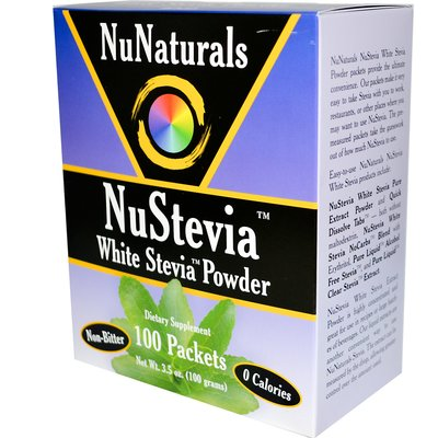 Стевия NuNaturals, NuStevia, No Carbs Blend 50 пакетов США