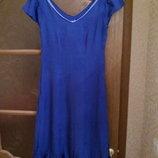 новое синее платье вискоза